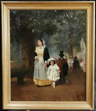 Antique (Pre-1900) Figures Art Paintings