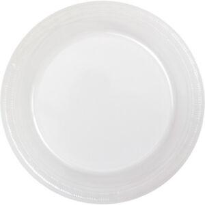 "Small 7"" Plastic Disposable Plates -Vibrant Solid Colors Appetizer Dessert Party"