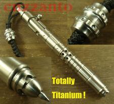 Totally Titanium Rifle bolt ball point pen + Lanyard bead + Leather sheath H474