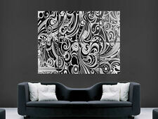 BLACK AND WHITE DIGITAL ART HUGE BIG  LARGE WALL POSTER PICTURE PRINT