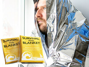 Foil Blanket First Aid Thermal Outdoor Camping Emergency 210cm x 130cm