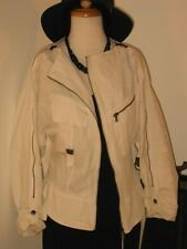 COSTUME NATIONAL Chic Asymmetric Zippers Jacket White 42