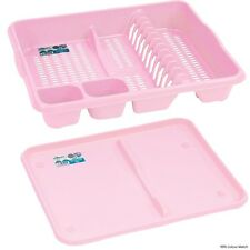 Large Dish Drainer Tray With Tray - Baby Light Pink