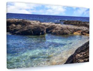 BEACH SEA SEASCAPE CANVAS PICTURE PRINT WALL ART D837