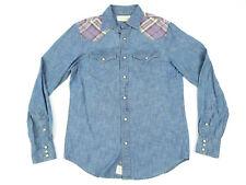 Ralph Lauren Denim & Supply Womens Western Shirt Beaded Denim Top Size Small