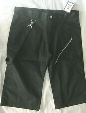 "36"" Black Canvas Punk Shorts / 3/4 trousers. Goth"