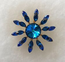 SEX AND THE CITY KIM CATTRALL FAUX SAPPHIRE BROOCH WITH COA