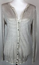 Banana Republic Women's Long Tunic Cardigan Boyfriend Sweater Button Up Size M