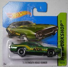 2014 HOT WHEELS / '71 Plymouth Road Runner (Metallic Green) - MOC.
