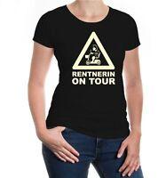 Damen Kurzarm Girlie T-Shirt Rentnerin on Tour Oma Großmutter Pflegedienst