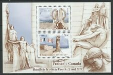 France 2017 Vimy Battle joint issue Canada MNH Block