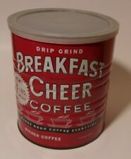 Vintage Breakfast Cheer 48 oz. coffee can with lid, Leetsdale PA