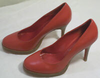 Womens Handmade Ibiza Last Jeffrey Campbell Red Leather High Heel Pumps Size 6m