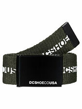 DC SHOES MENS BELT.CHINOOK 2 KHAKI OLIVE WEBBING JEANS TROUSER STRAP 7W 110 CSNO