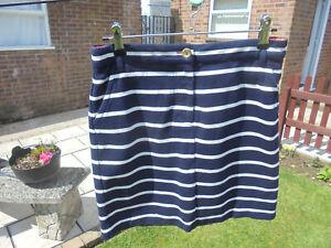 Boden fun Jersey Mini Skirt size 8 reg navy+ white stripe colour WG543