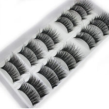 100% Mink Hair Individual Eyelashes 10 Pairs 12mm Long Natural False Eye Lashes