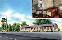 Beacon Lite Motel Kentucky Roadside Linen 1953 Postcard Louisville