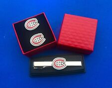 Montreal Canadiens Tie Clip & Cufflinks Set Hockey Gift Tie Bar And Cuff Links