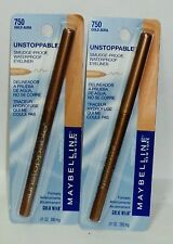 2 Maybelline UNSTOPPABLE Smudge Proof Water Proof Eyeliner GOLD AURA #750 NIP