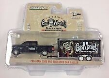 GREENLIGHT 1/64 HITCH & TOW SERIES 5 2014 DODGE RAM 1500 GAS MONKEY ENCLOSED CAR