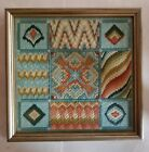 Vintage Hudsons Quilted Knitted 12x12 Art Deco Tapestry - Aqua Green NICE!!!