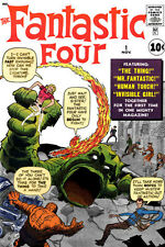 "MARVEL Fantastic Four #1    Silver Age    Fridge Magnet 4""x6"" Decor"