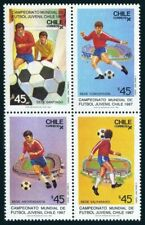 Chile 750 block,MNH.Michel 1179-1182. World Youth Soccer Championships,1987.