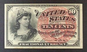 """Fr. 1258 10-cent Fourth Issue Fractional Note, """"Liberty""""."""