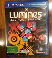 Lumines Electronic Symphony PS Vita Sony PlayStation Vita AUS Release