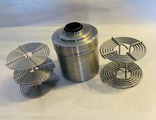 Honeywell Nikor Stainless Steel Developing Tank with 2-35mm Reels & 1-2 1/4 Reel