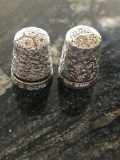 VINTAGE SOLID SILVER SEWING THIMBLES