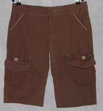 Urban Behavior Brown Lightweight Cargo Walking Shorts Size M 100% Cotton