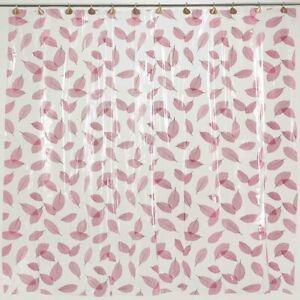 "Carnation Home ""Autumn Leaves"" Vinyl Shower Curtain in Burgundy"