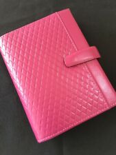 FILOFAX/ORGANISER-ADELPHI POCKET-DELUXE FUCHSIA DELUXE SMOOTH LEATHER~BEAUTY