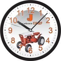 Jacobsen Chief Part Garden Lawn Tractor Large Black Round Sign Collector Clock