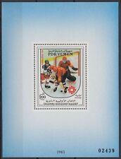 Yemen PDR 1983 ** Bl.18 Olympische Spiele Winter Olympic Games Eishockey