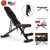 Adjustable Bench,Utility Weight Bench For Full Body Workout Foldable Bench US