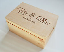 Gift Box - PERSONALISED - Wooden - WEDDING CHILDREN ADULTS FAMILY BIRHTDAYS GIFT