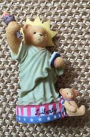 Cherished Teddies Figurine Libby Statue of Liberty 305979 New w Box My Country