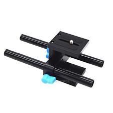 15mm Rail Rod Support System Baseplate Mount for DSLR Follow Focus Rig Matt
