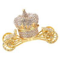 Crown Carriage Jewelry Box Trinket Gift Storage Organizer Decoration Ornament