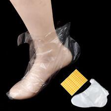 100pcs Clear Plastic Disposable Bath Liner Foot Pedicure Spa Wax Cover Bag S J1