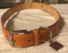 Coach Charm Grommets Dog Collar Leather Size XL