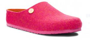 Birkenstock Kaprun Rivet Doubleface Fuchsia Pink Wool Clog Slipper US 7 EU 38