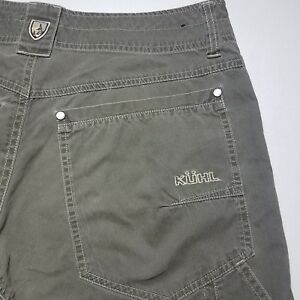Men's Kuhl Vintage Patina Dye Green Flat Front Outdoor Hiking Pants Size 30 x 29