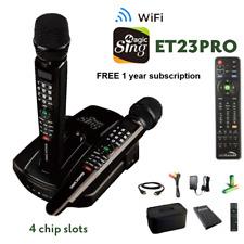 2019 Et23pro WiFi Magic Sing Karaoke Mic Slots 12k Eng 1 Year 220k Int'l Song