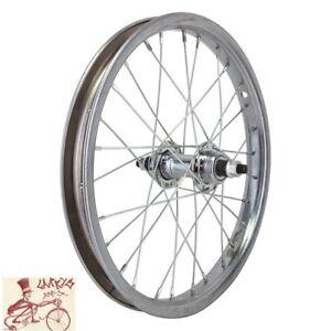 "WHEELMASTER  FREEWHEEL 16"" x 1.75""  CHROME STEEL BICYCLE REAR WHEEL"