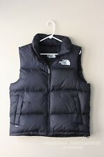 North Face Black Goose Down Puffer Vest Sz. M MSRP $179 1996 Retro Novelty