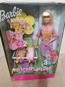 Barbie & Krissy Stroll N Play Set W/ 2 Baby Dolls & Stroller