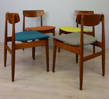 Set of 4 Mid Century dining chair by Casala / Teak Stühle / Sedia / Chaises